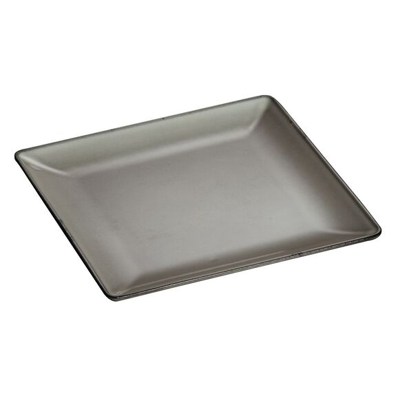 9 3/8-inch Square Dinner Plate - Graphite Grey,,large