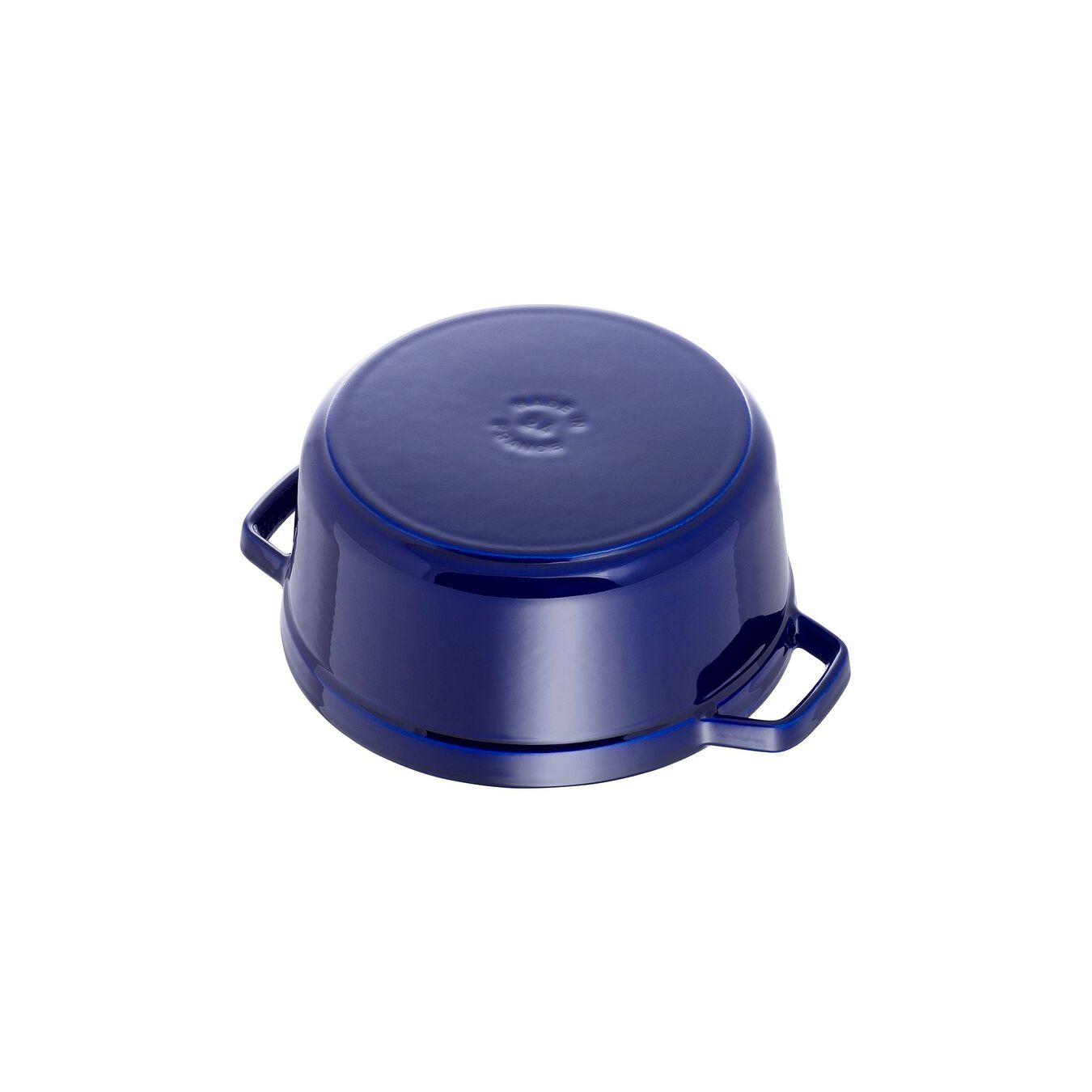 4 qt, round, Cocotte, dark blue,,large 3