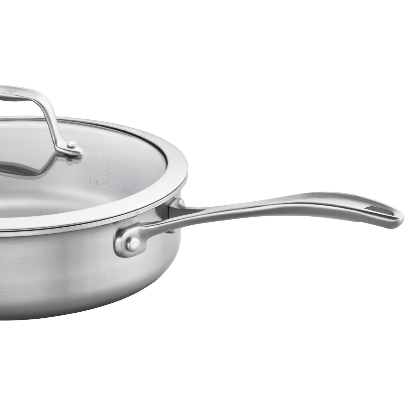 9.5-inch, 18/10 Stainless Steel, Non-stick, Saute pan,,large 2
