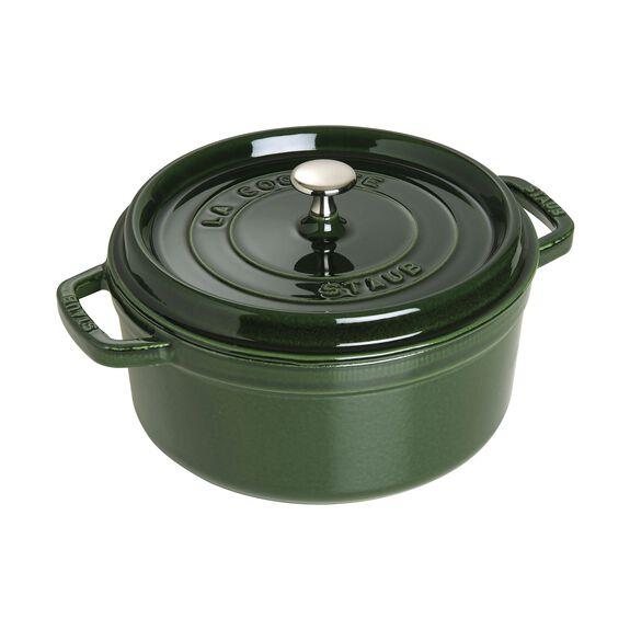 4-qt Round Cocotte - Basil,,large 2