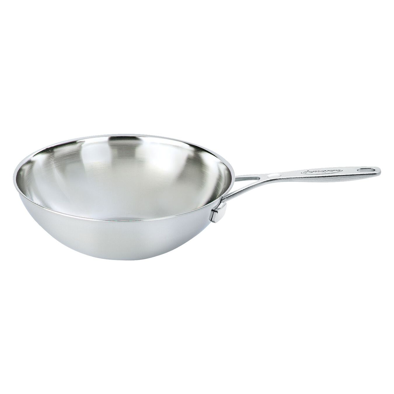 5-qt Stainless Steel Flat Bottom Wok with Helper Handle,,large 1