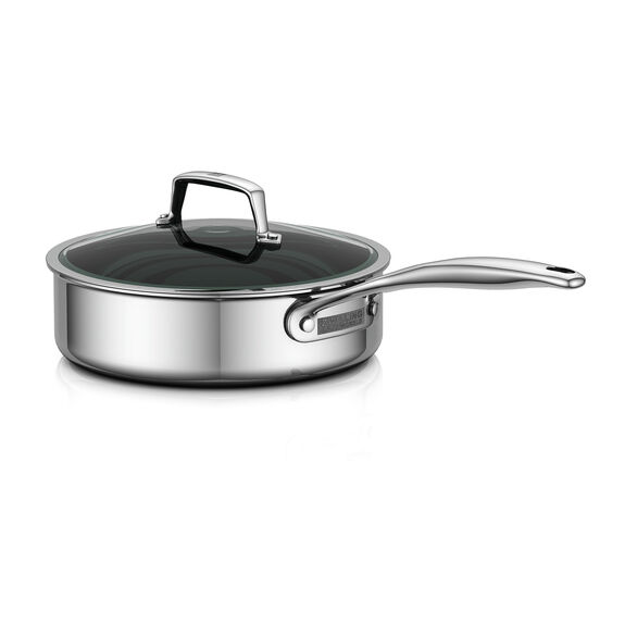 3-Ply 3-qt Stainless Steel Saute Pan w/Lid,,large