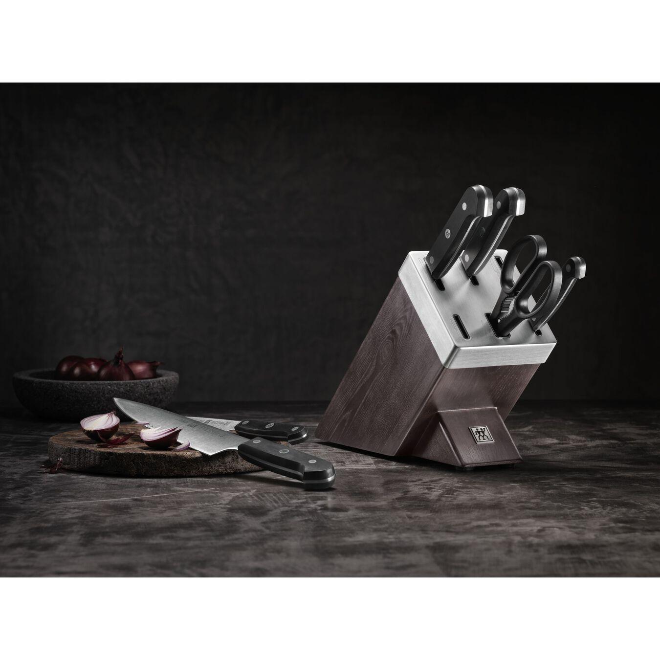 Blok Bıçak Seti Kendinden Bilemeli | dişbudak ağacı | 7-parça,,large 7