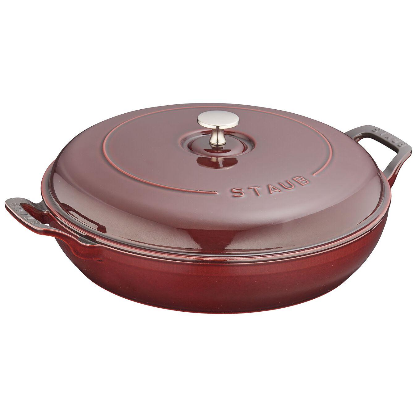 3,5 l Cast iron round Braisière, Grenadine-Red,,large 1