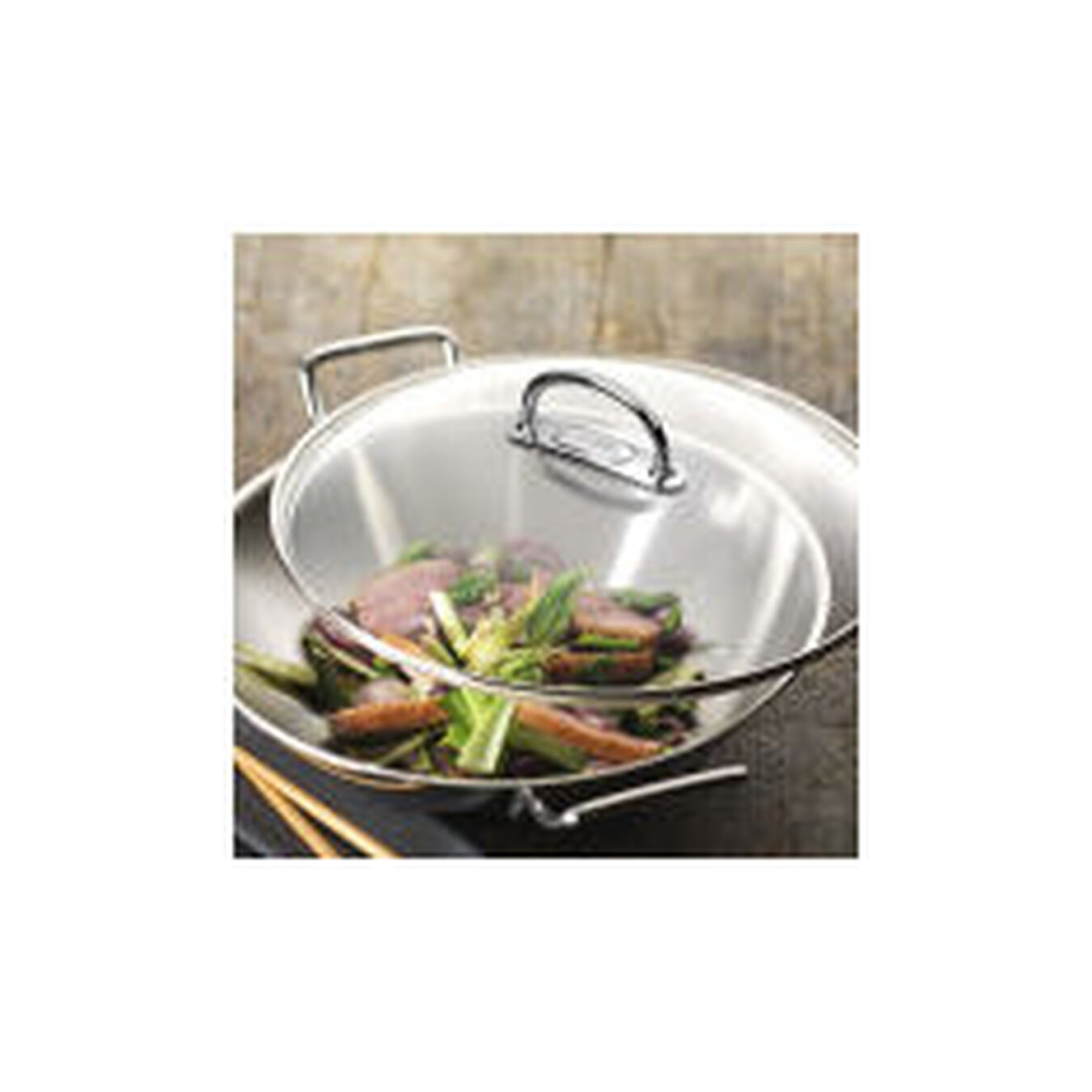 36 cm / 14 inch 18/10 Stainless Steel Wok,,large 2