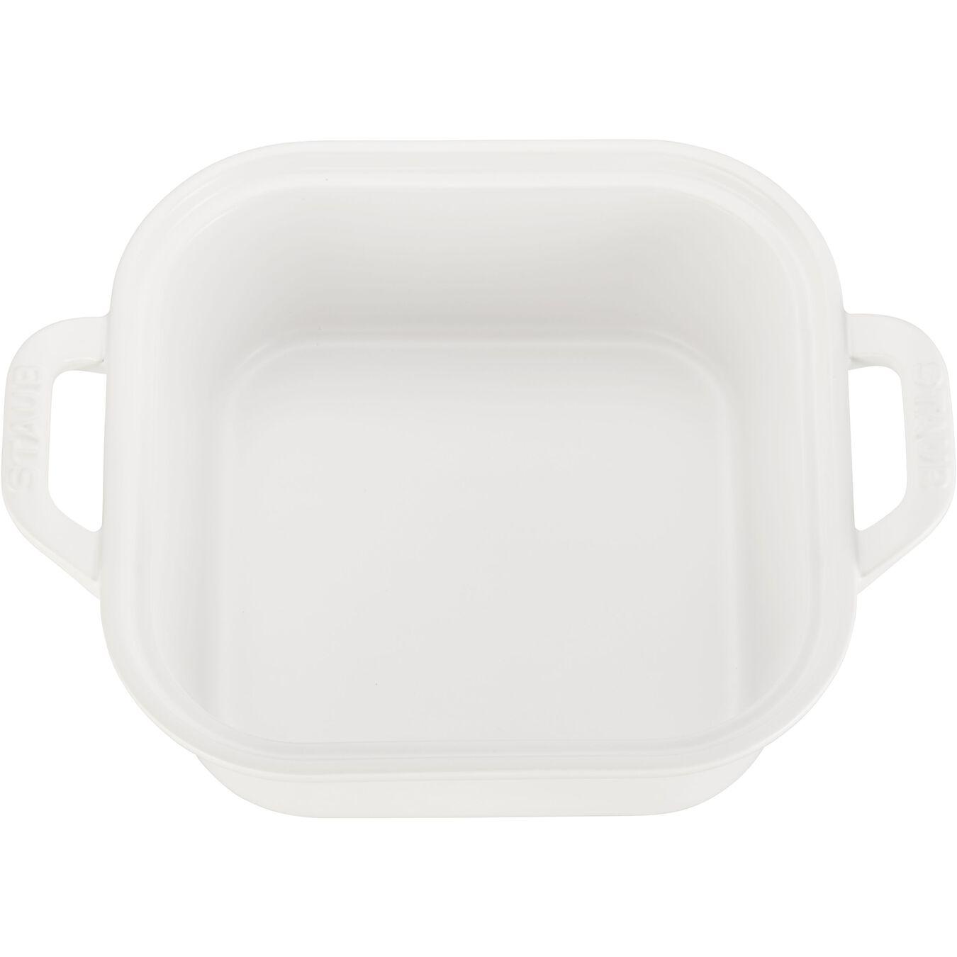 Ceramic square Special shape bakeware, matte-white,,large 4