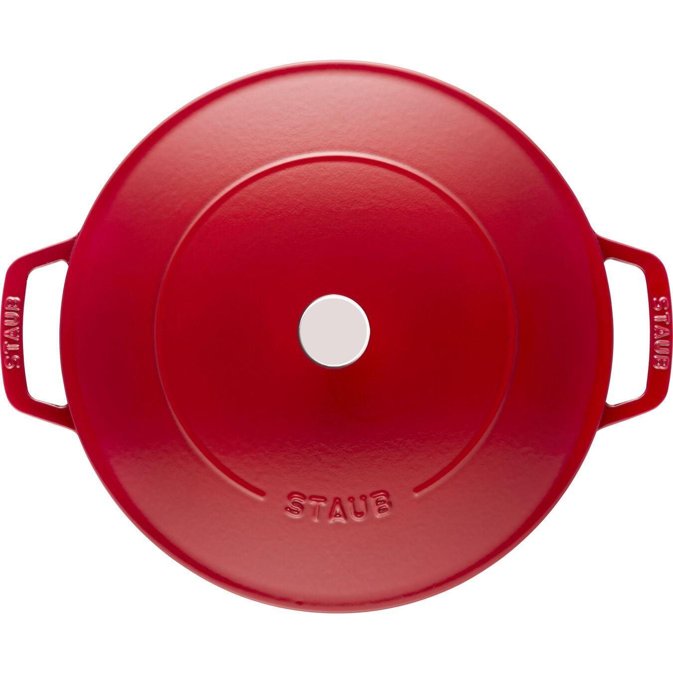 3.7 l Cast iron round Saute pan Chistera, cherry,,large 2