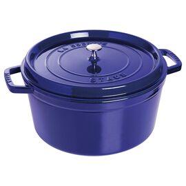 Staub Cast Iron, 13.25-qt round Cocotte, Dark Blue