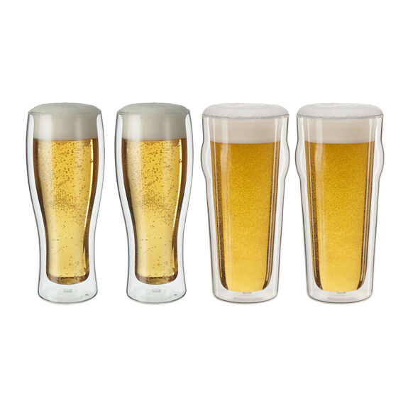 4-pc  Beer glass set,,large