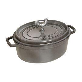 Staub Cast Iron, 5.75-qt Coq au Vin Cocotte - Graphite Grey