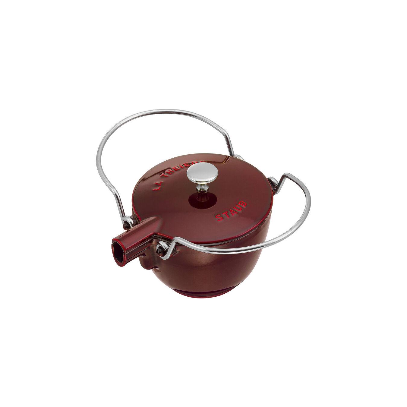 1.25 l Cast iron Tea pot, Grenadine-Red,,large 2