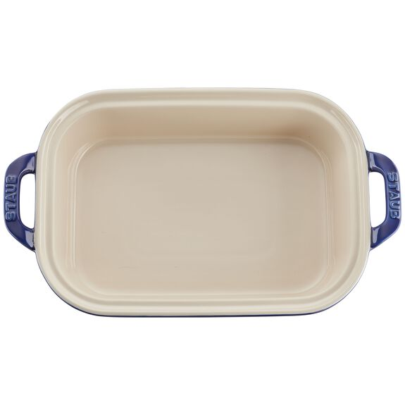 Ceramic Rectangular Covered Baking Dish, Dark Blue,,large 5