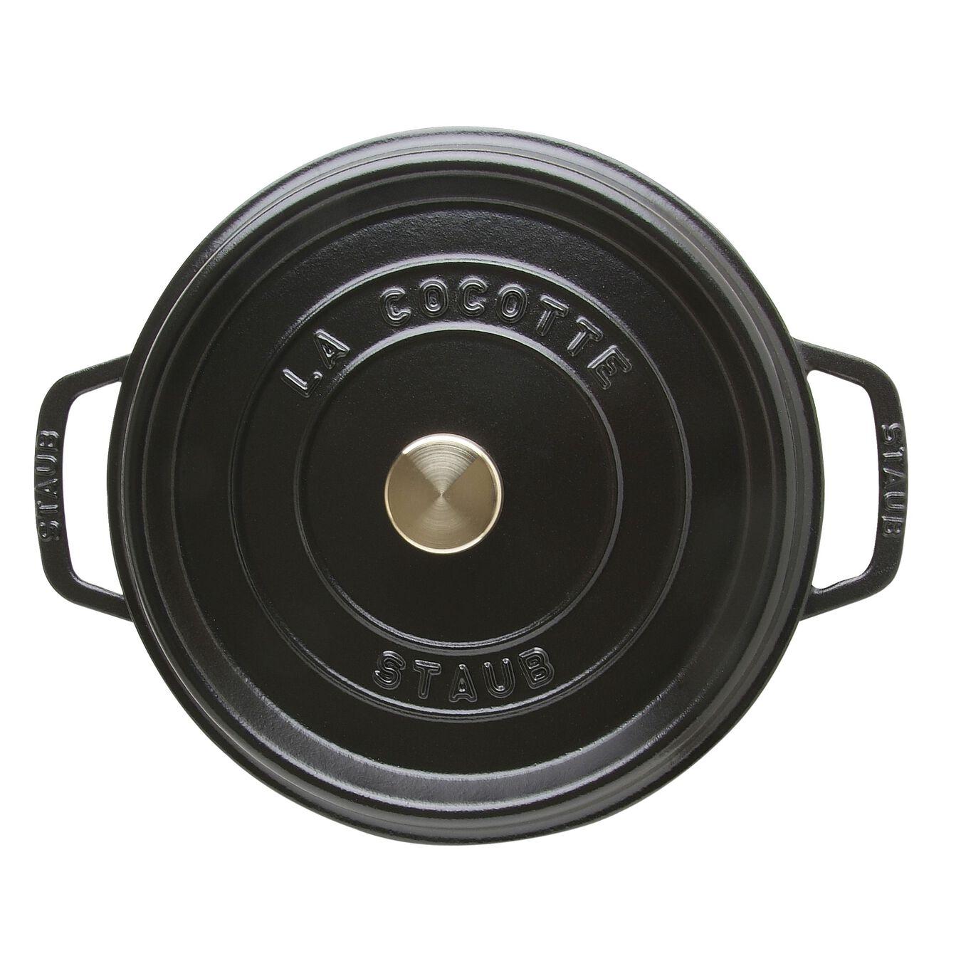 Döküm Tencere | Siyah | 24 cm | 3,8 l | yuvarlak,,large 4