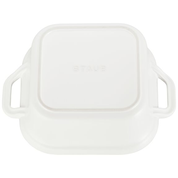 Ceramic Square Covered Baking Dish, Matte White,,large 3