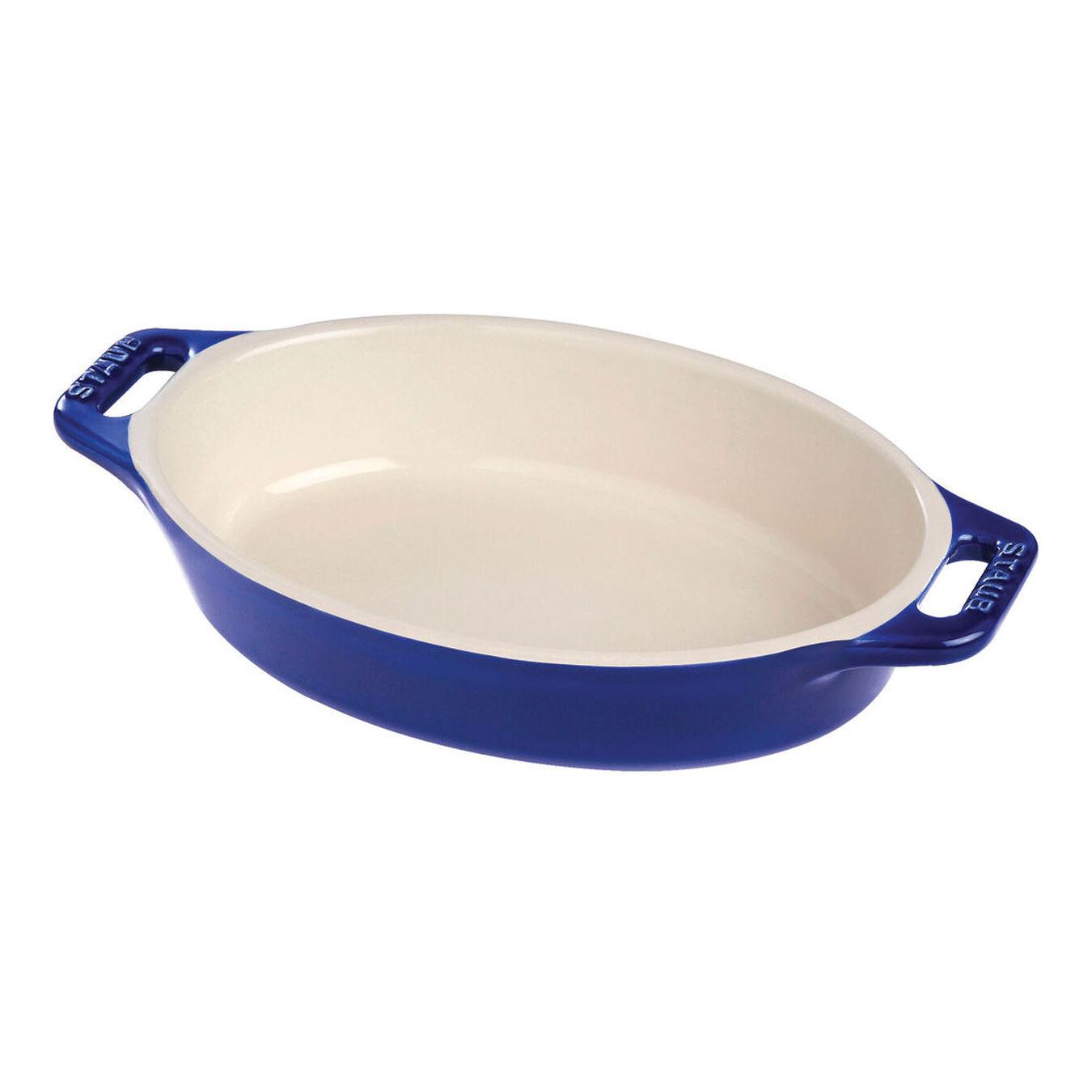 11-inch, oval, Special shape bakeware, dark blue,,large 1