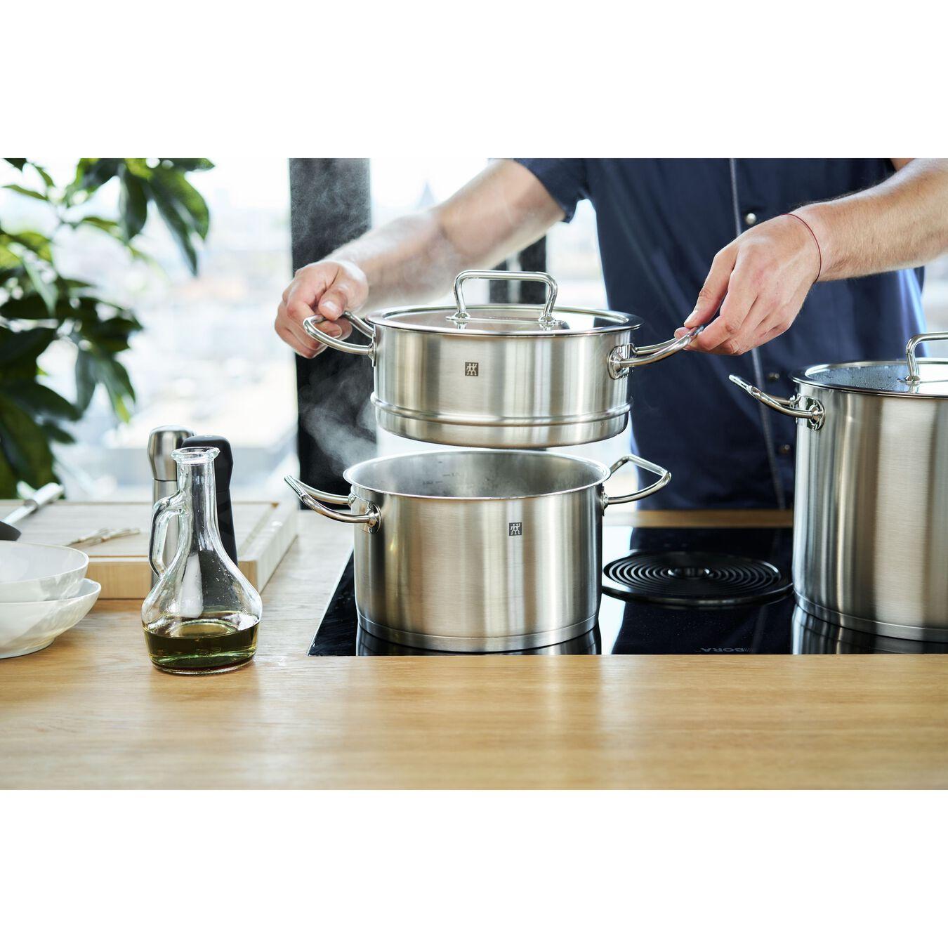 Passoire pour cuit vapeur 24 cm, Inox 18/10,,large 7
