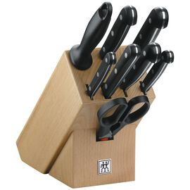 ZWILLING TWIN Gourmet, Messerblock 9-tlg, Holz