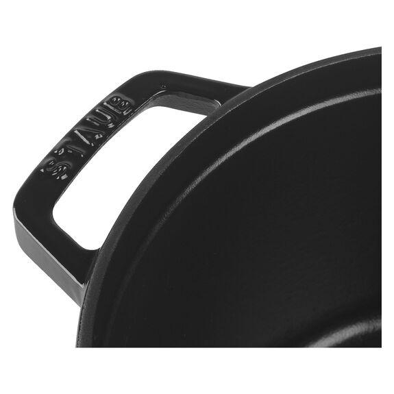 5-qt round Cocotte, Shiny black,,large 6