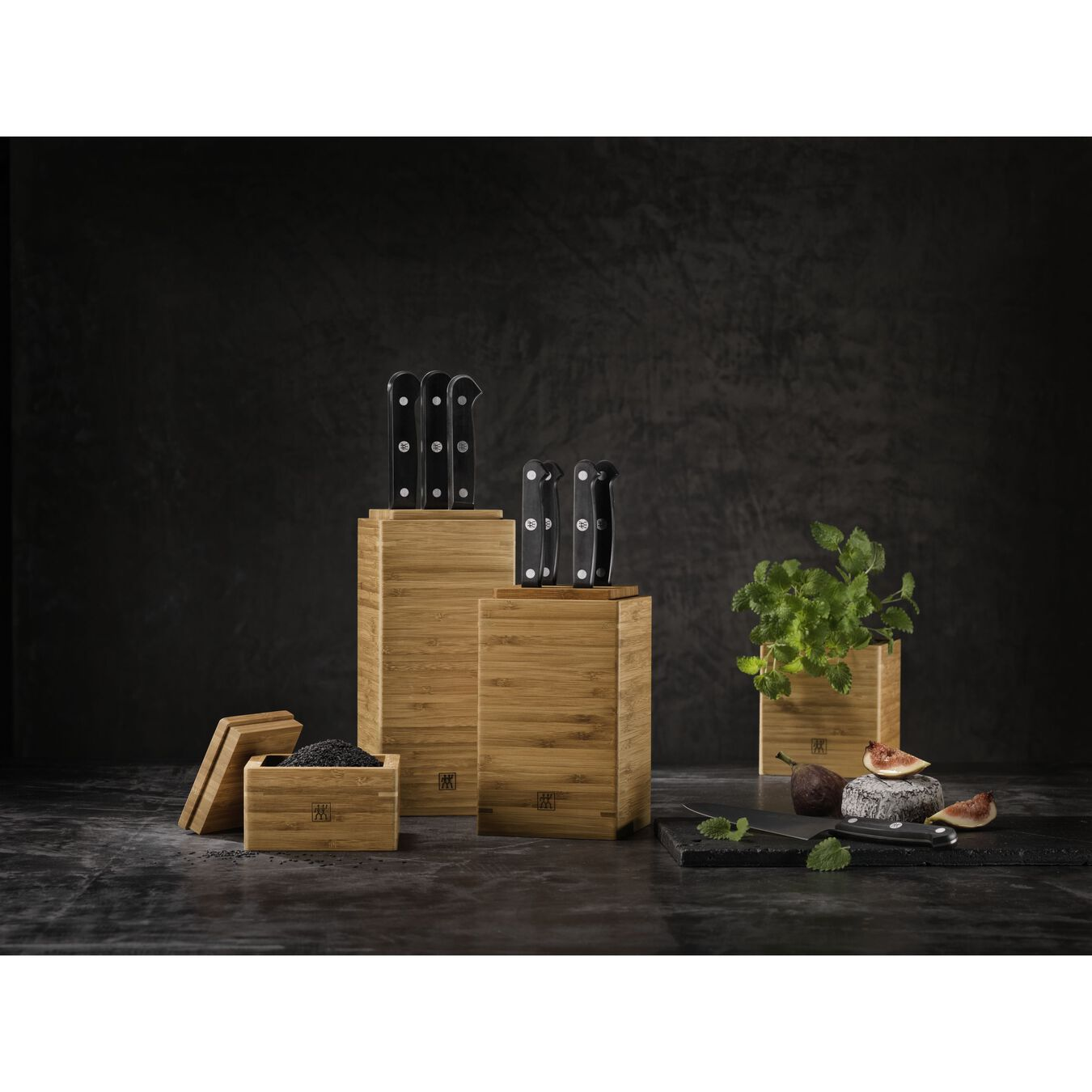 Boîtes, 4-pcs | Bambou | Carré(e),,large 3
