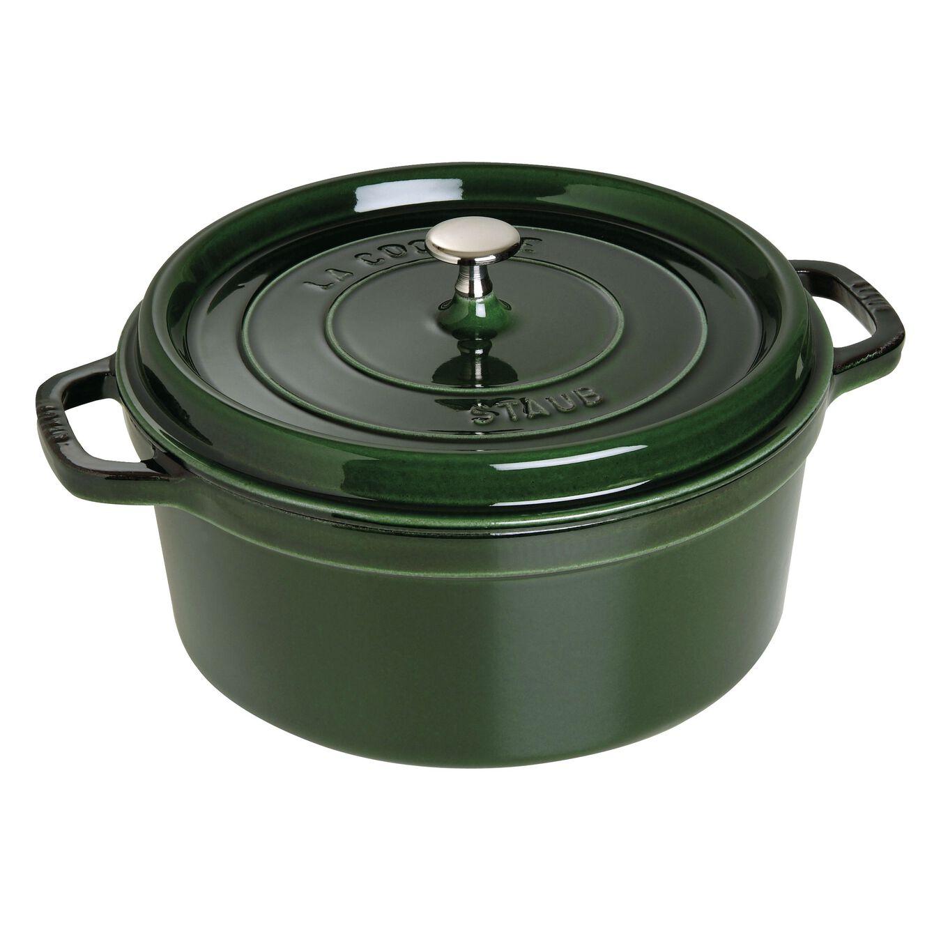 6,75 l Cast iron round Faitout, Basil-Green,,large 1