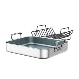 ZWILLING Cookware Specialties, Polished Stainless Steel Ceramic Nonstick Roasting Pan
