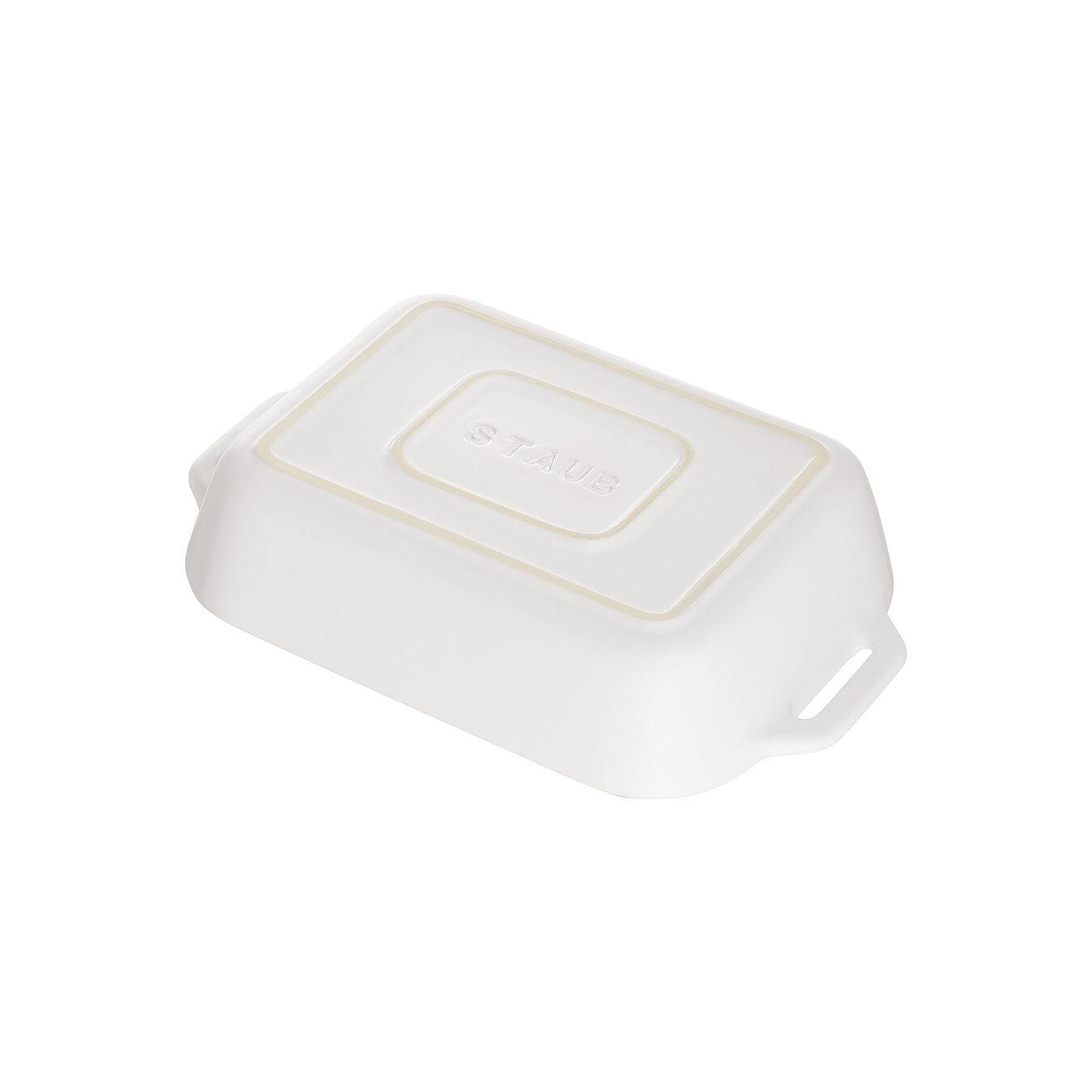 Ceramic rectangular Oven dish, Pure-White,,large 3