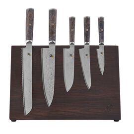 MIYABI Black 5000MCD67, 8-pc, Knife block set, brown