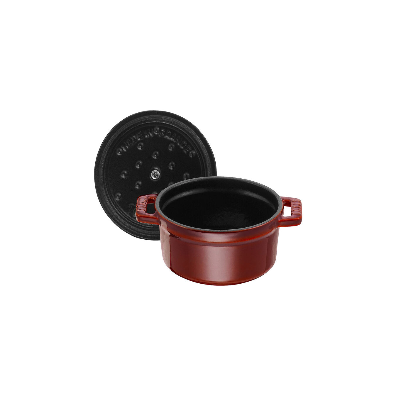 250 ml Cast iron round Mini Cocotte, grenadine-red,,large 5