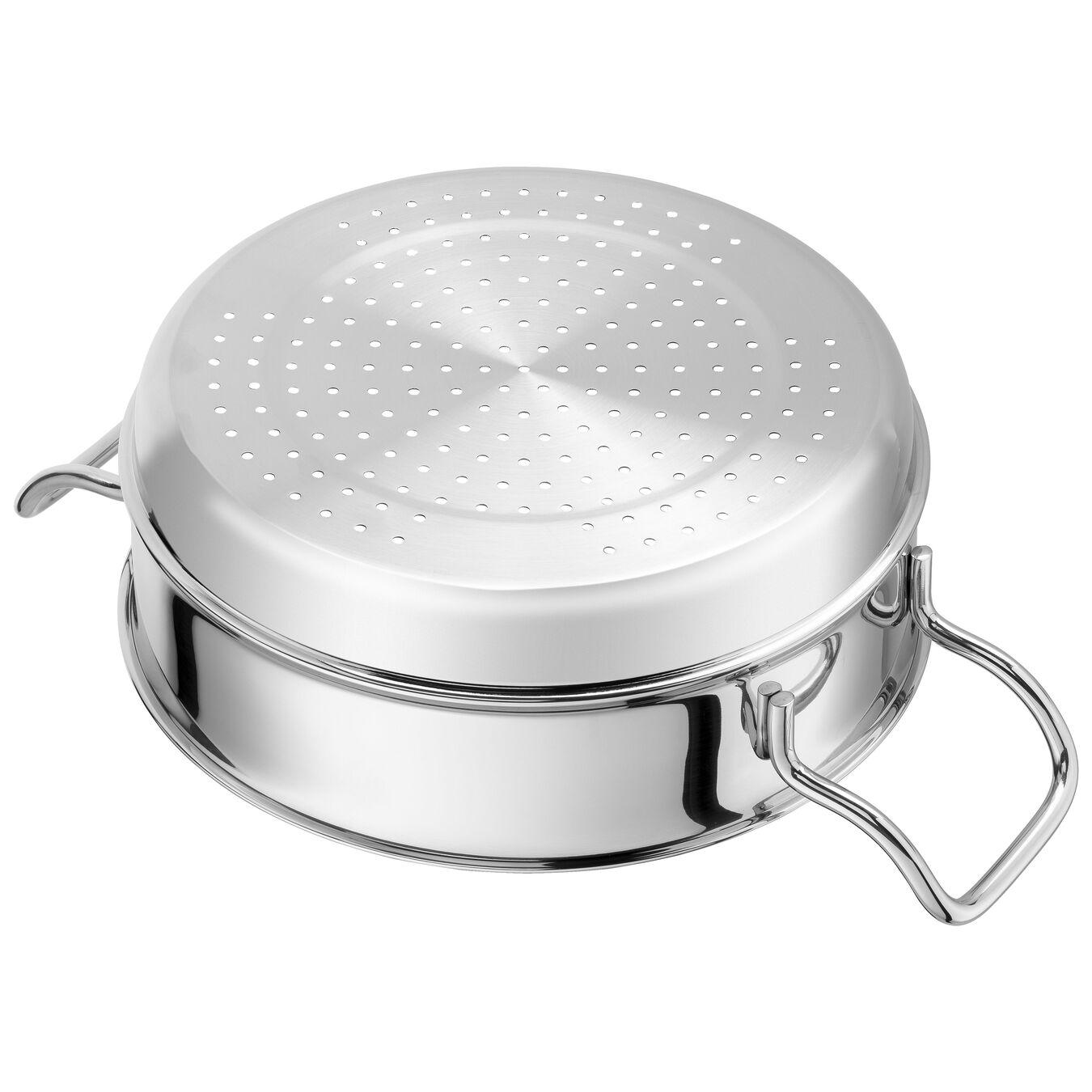 Buharda Pişirme Aparatı, Yuvarlak | 24 cm | 18/10 Paslanmaz Çelik | Metalik Gri,,large 4