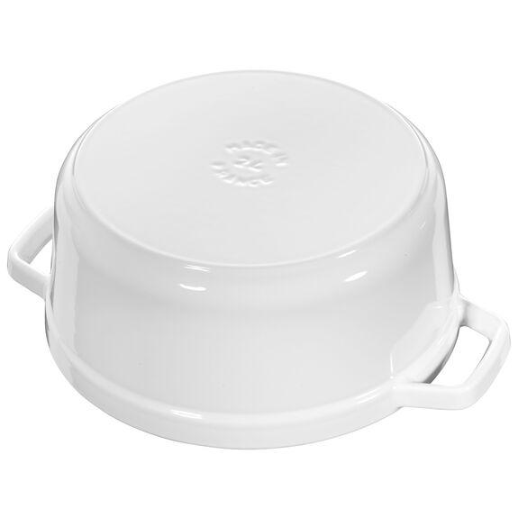 4-qt round Cocotte, White,,large 2
