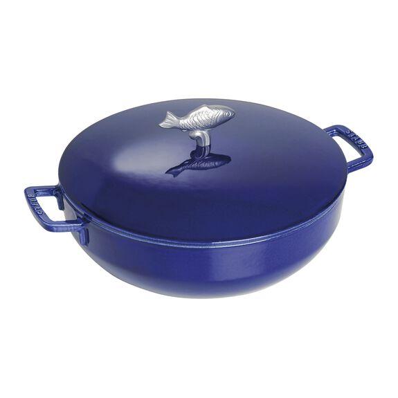5-qt Round Bouillabaisse Pot - Visual Imperfections - Dark Blue,,large 3