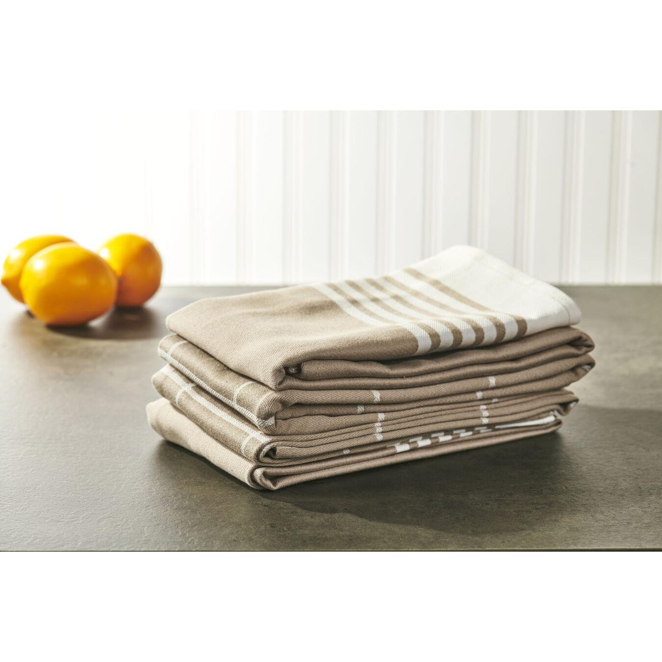 4-pc Kitchen Towel Set - Taupe,,large 4