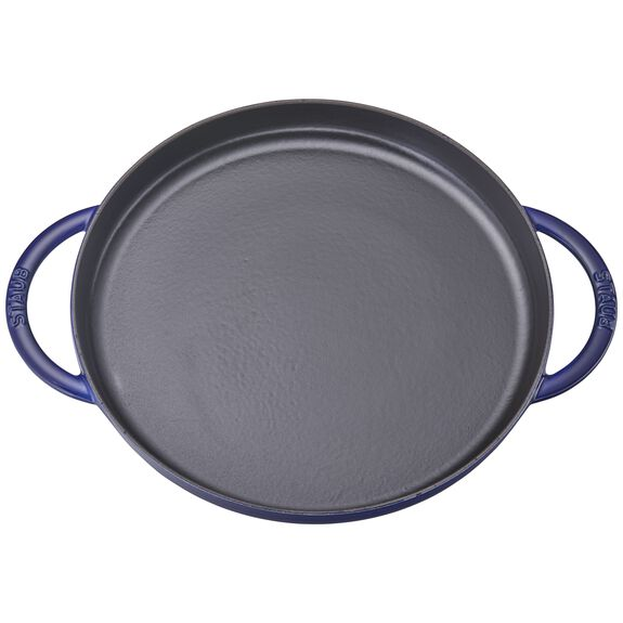 "12"" Chicken al Mattone Griddle & Press Set, Dark Blue, , large 3"