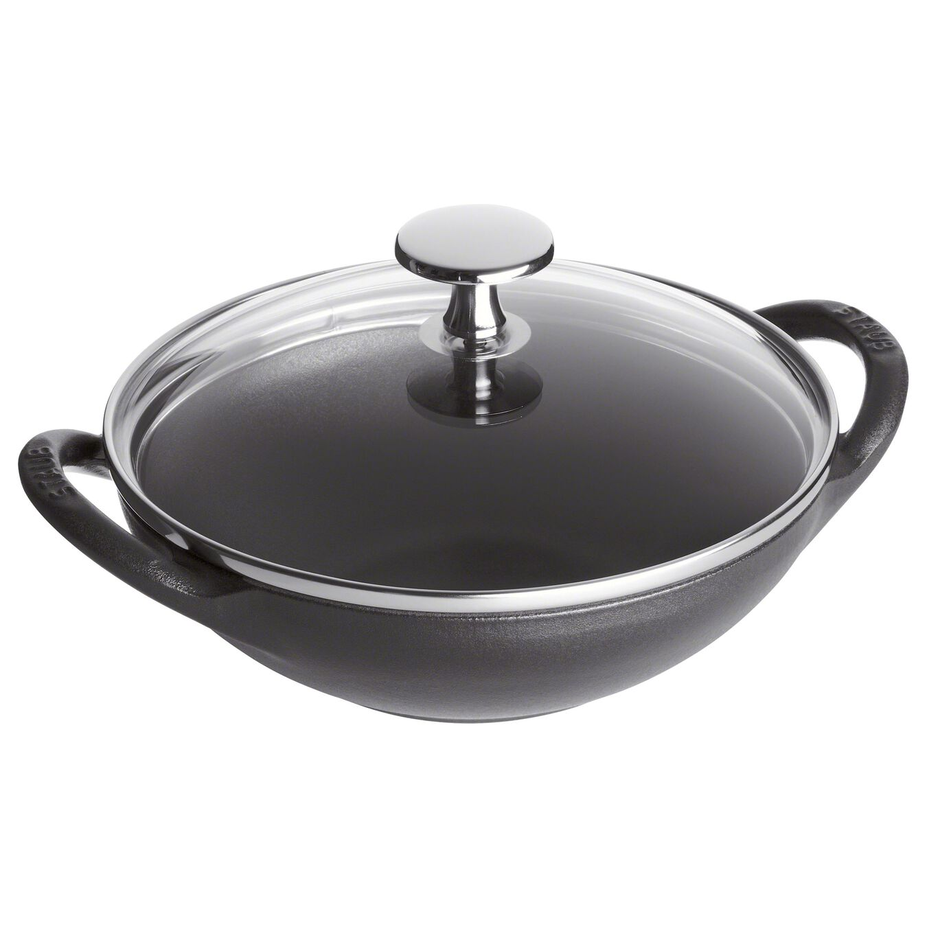 Wok Tava | döküm demir | Siyah | 16 cm,,large 1