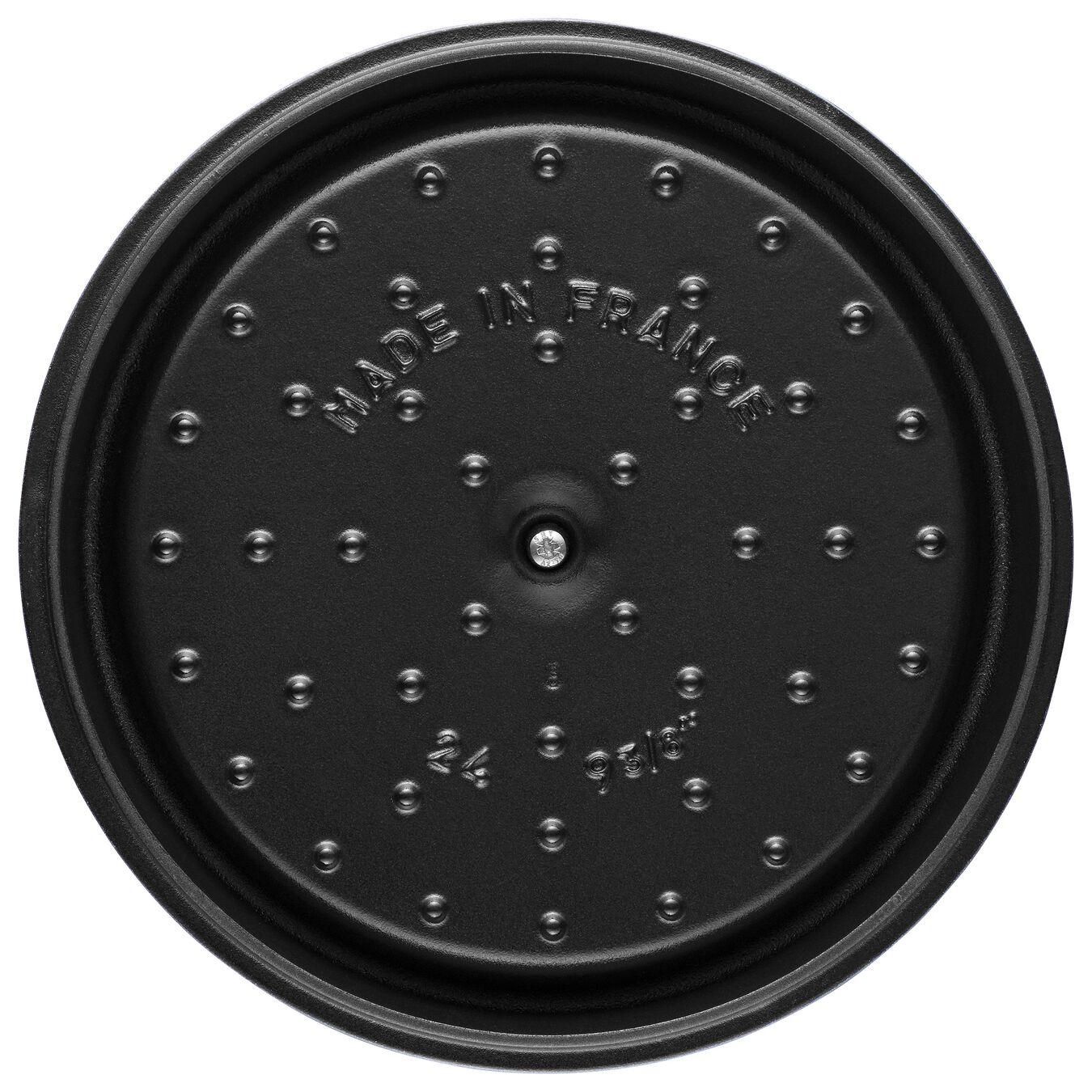 Cocotte 24 cm, rund, Schwarz, Gusseisen,,large 6