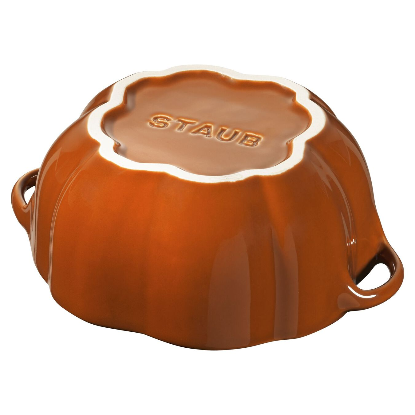 16-oz Petite Pumpkin Cocotte - Burnt Orange,,large 3