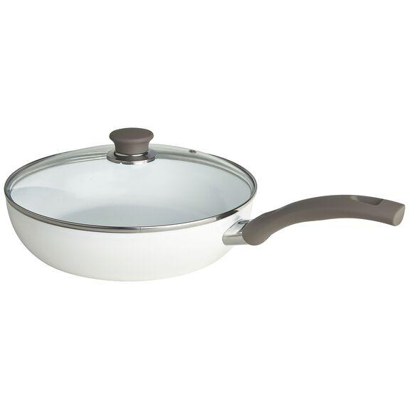 4-qt Aluminum Ceramic Nonstick Saute Pan with Lid,,large