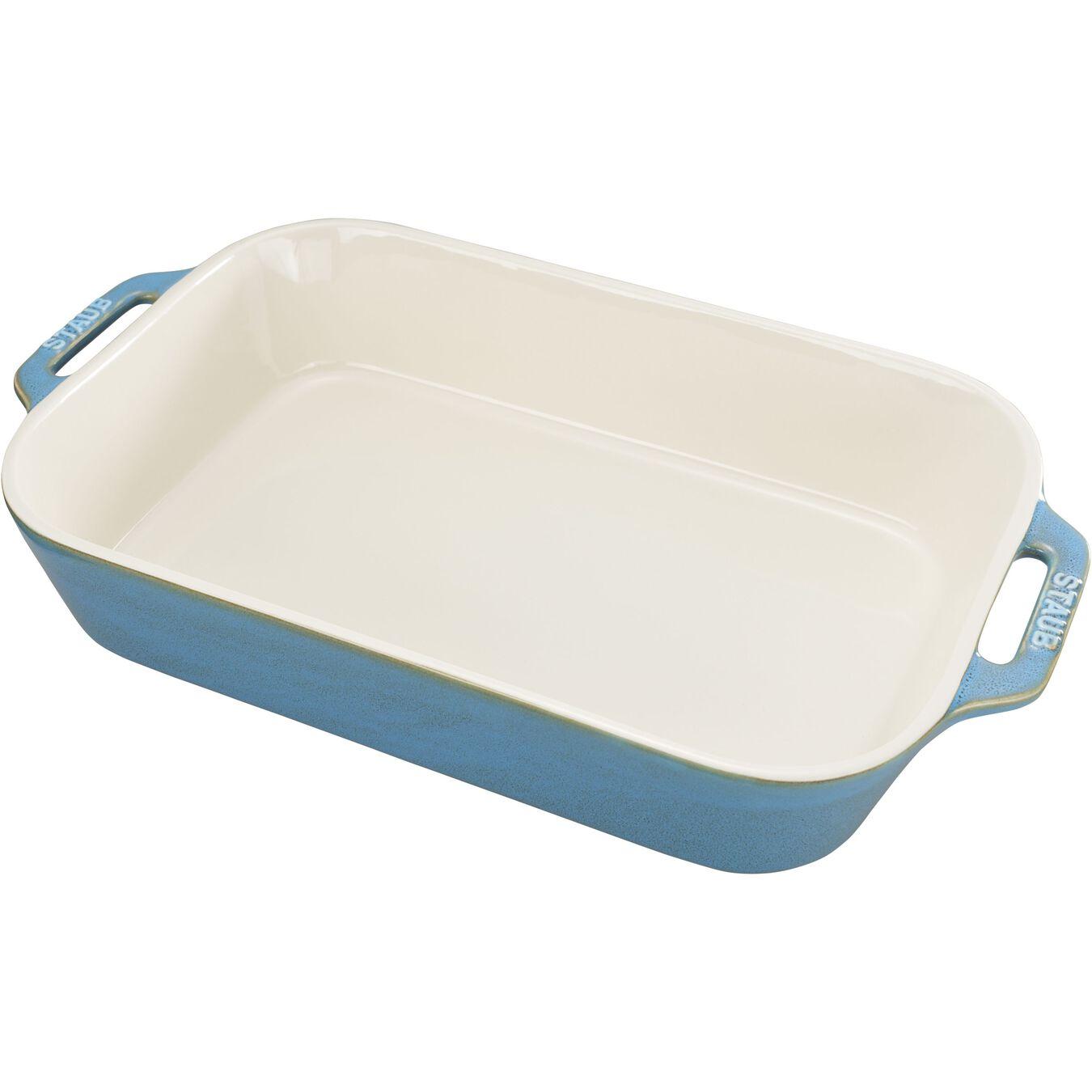 9-x 13-inch, rectangular, Baking Dish, rustic turquoise,,large 1