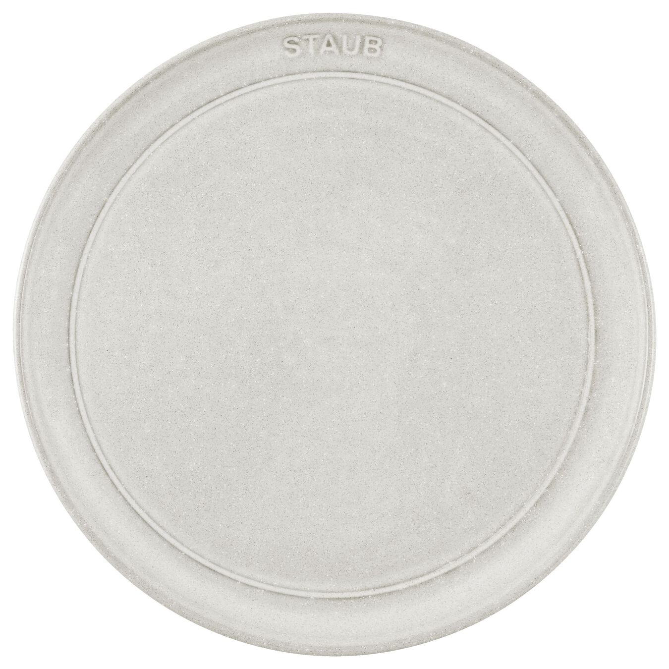 22 cm Ceramic round Assiette flat, White Truffle - Visual Imperfections,,large 2