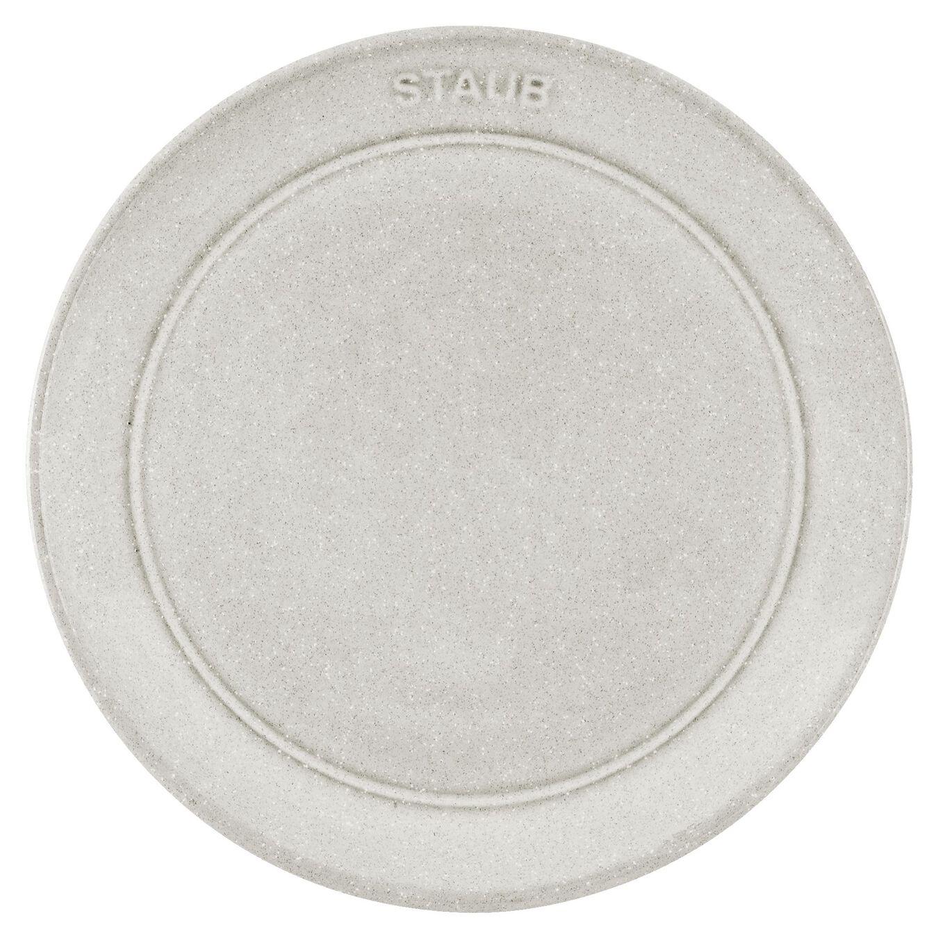 15 cm Ceramic round Assiette flat, White Truffle,,large 2