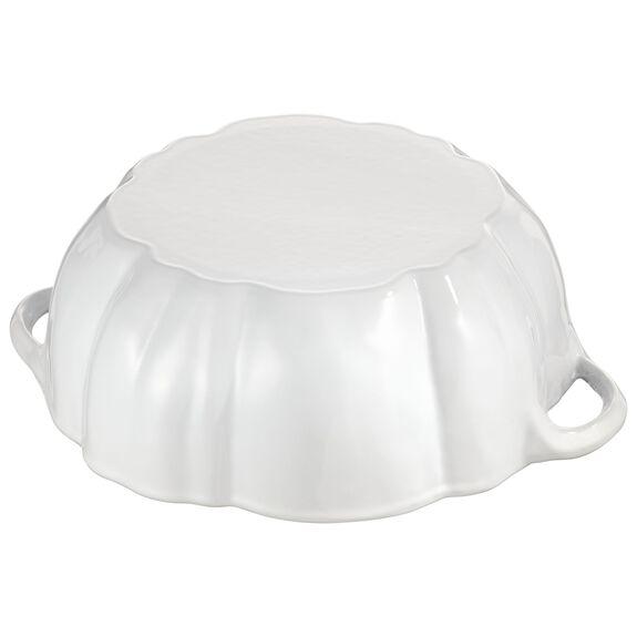 3.5-qt Pumpkin Cocotte - White,,large 6