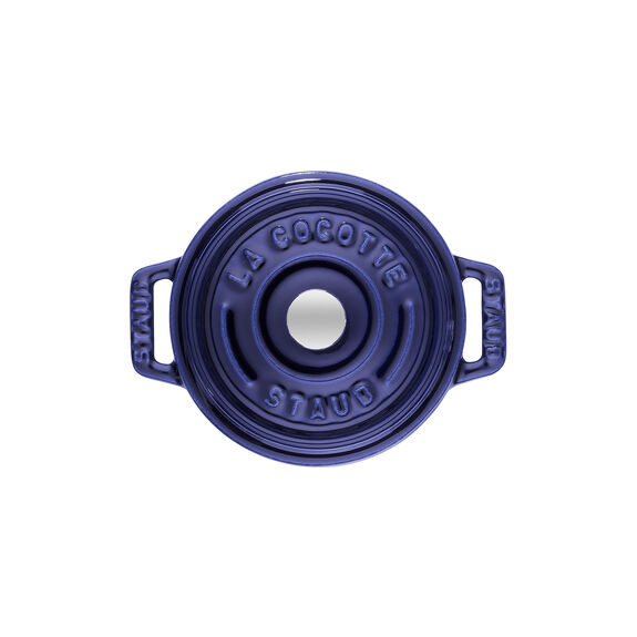 Döküm Tencere, 22 cm | Koyu Mavi | Yuvarlak | Döküm Demir,,large 2
