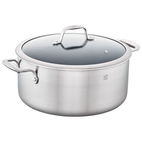 8-qt Ceramic Nonstick Stock Pot, , large