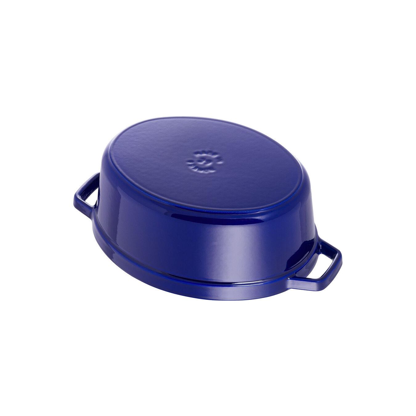 Cocotte 29 cm, Ovale, Bleu intense, Fonte,,large 4