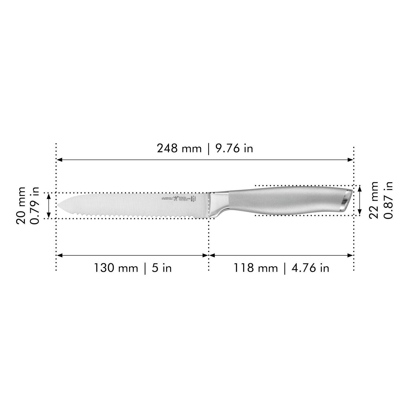 5-inch Utility knife, Serrated edge ,,large 2