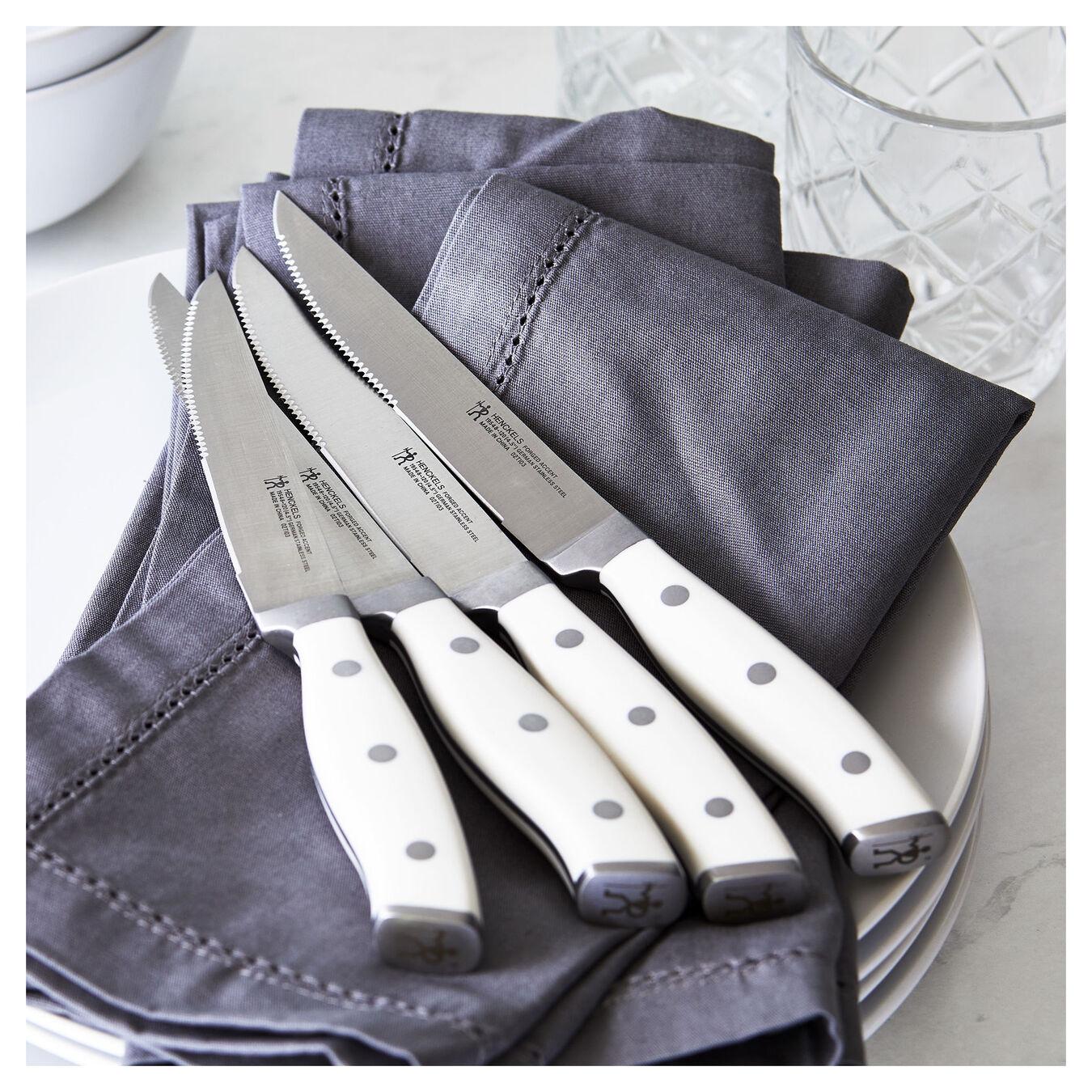 4-pc, Steak Knife Set - White,,large 2