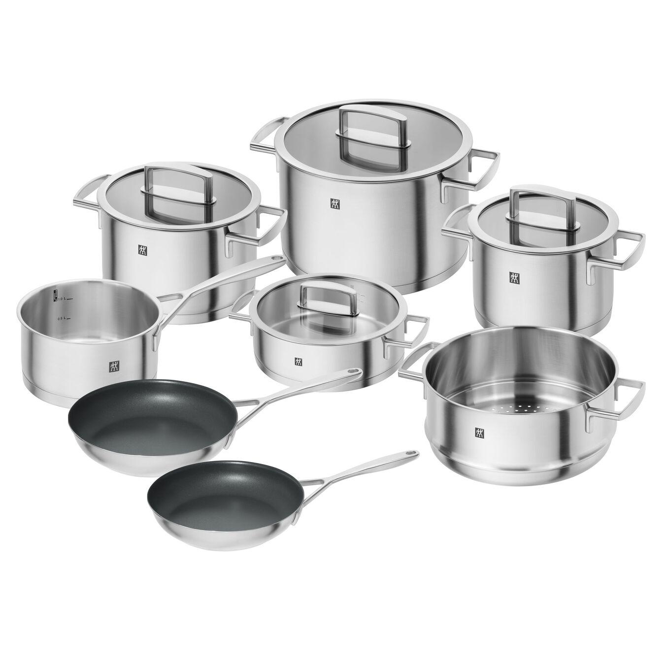 Ensemble de casseroles et poêles 8-pcs, Acier inoxydable,,large 1