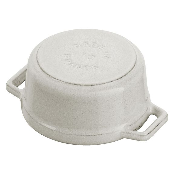 0.25-qt Mini Round Cocotte - Visual Imperfections - White Truffle,,large 4