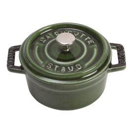 Staub Cast Iron, 0.25-qt Mini Round Cocotte - Basil