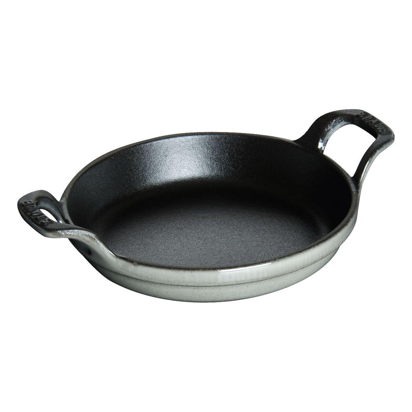 4.5-inch Mini Round Gratin Baking Dish - Graphite Grey,,large 1